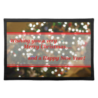 Christmas Lights Abstract Cloth Place Mat