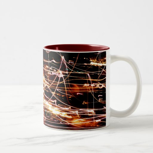 Christmas Lights Abstract Mugs