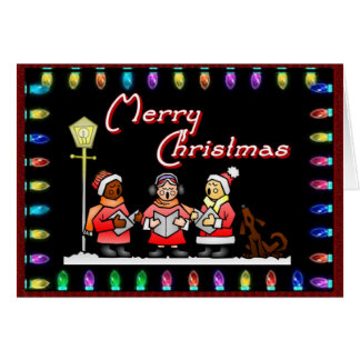 Christmas Lights and Carols Note Card