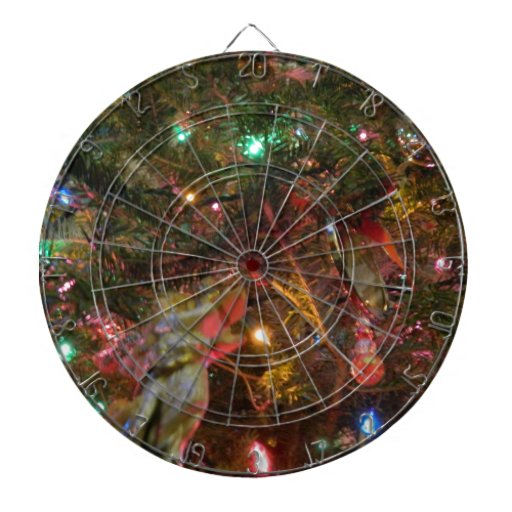 Christmas Lights and Ornaments Dart Board