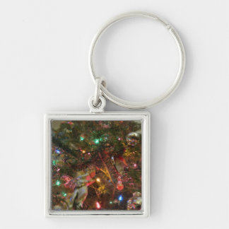 Christmas Lights and Ornaments Key Chain
