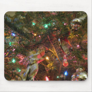 Christmas Lights and Ornaments Mouse Pad