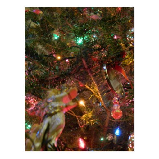 Christmas Lights and Ornaments Postcards