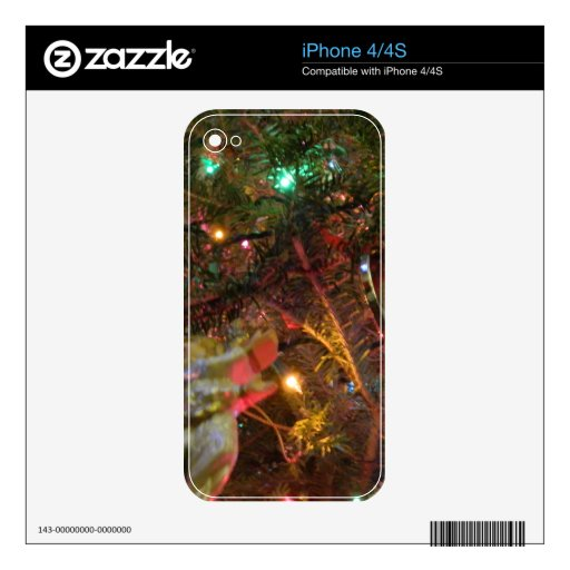 Christmas Lights and Ornaments Decals For The iPhone 4S