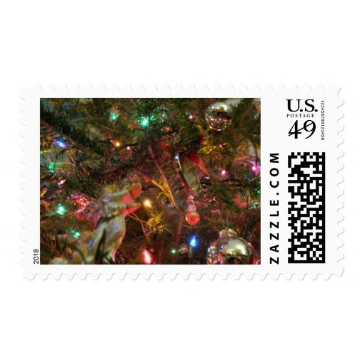 Christmas Lights and Ornaments Stamp