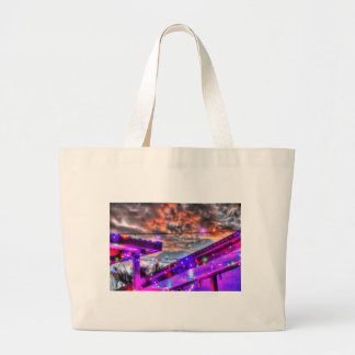 CHRISTMAS LIGHTS ART EFFECTS AUSTRALIA LARGE TOTE BAG