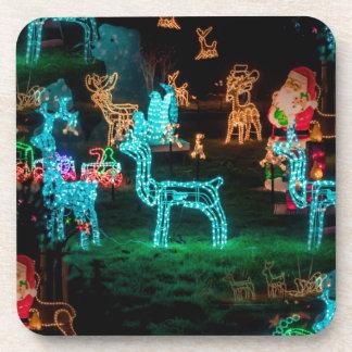 christmas lights beverage coaster