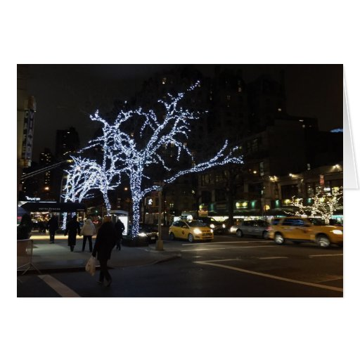 Christmas lights broadway upper west side nyc card zazzle for T mobile upper west side