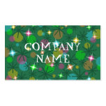 Christmas Lights business card front text green
