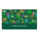 Christmas Lights business card green stripe