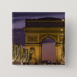 Christmas lights, Champs Elysees, Arc de Pinback Button