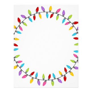 Christmas Lights Circle Pattern Letterhead
