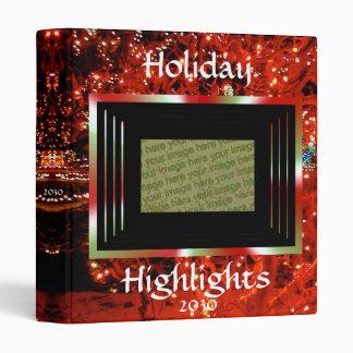 Christmas Lights Custom 1 inch Binder