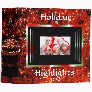 Christmas Lights Custom 2 inch Binder