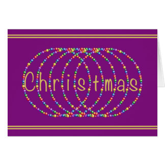 Christmas Lights Design on Purple Card