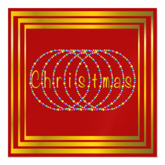Christmas Lights Design on Red with Gold Magnetic Card