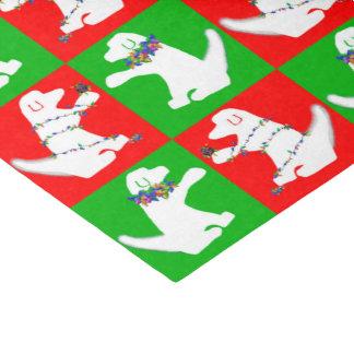 "Christmas lights dog tissue paper 10"" x 15"" tissue paper"