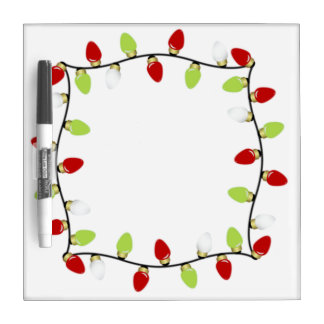 Christmas Lights Dry Erase Board