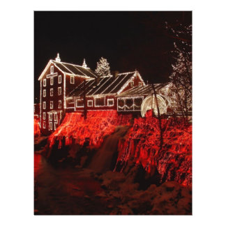 christmas lights custom flyer
