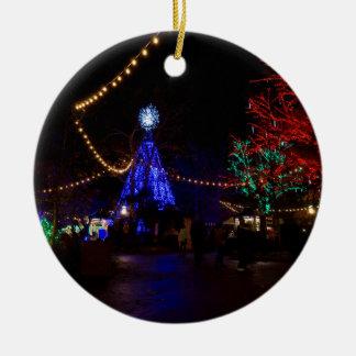 Christmas Lights Galore Ceramic Ornament