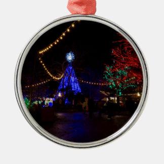 Christmas Lights Galore Metal Ornament