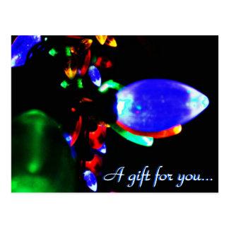 Christmas Lights Gift Certificate Postcard