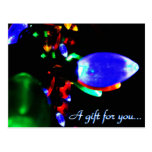 Christmas Lights Gift Certificate Postcards