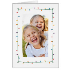 Christmas Lights Greeting Card at Zazzle