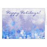 Christmas Lights Greeting Card Blue