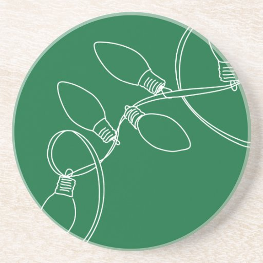 Christmas Lights_GRN Beverage Coasters
