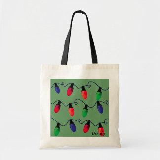 Christmas Lights- holiday gift tote Budget Tote Bag