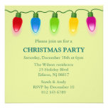Christmas lights Holiday Invitation