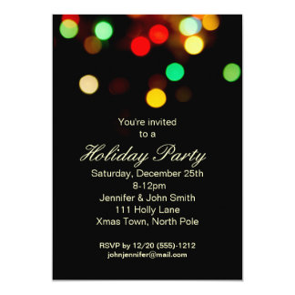 Christmas Lights Holiday Party Card