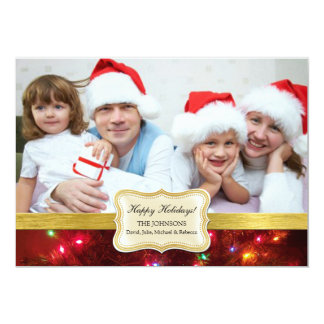 Christmas Lights Holiday Photo Cards