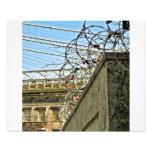 Christmas Lights in Barbed Wire w/ Brooklyn Bridge Photo Art