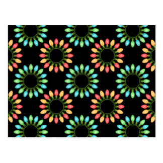 Christmas Lights in Colorful Circles Postcard