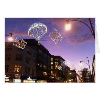 Christmas lights in london card