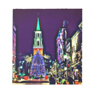 Christmas Lights in the City Notepad