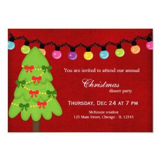 Christmas Lights 5x7 Paper Invitation Card