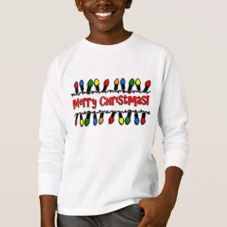 Christmas Lights Kids' Long-Sleeve Holiday T-Shirt