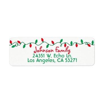 Beach Themed Christmas Lights Label