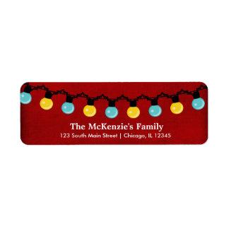 Christmas Lights Return Address Label