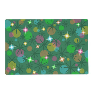 Christmas Lights laminated placemat