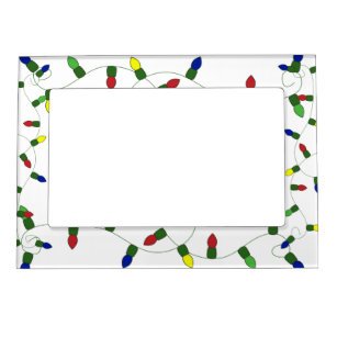 christmas lights magnet photo frame