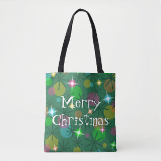 Christmas Lights Merry Christmas all over tote bag