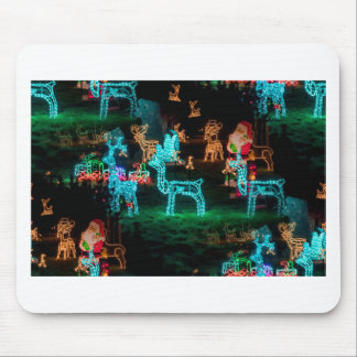 christmas lights mouse pad