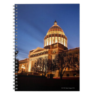 Christmas lights on the Capitol, Little Rock Spiral Notebook