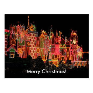 Christmas Lights on Tourist Attractions Postcard