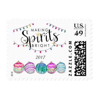 Christmas Lights & Ornaments Postage