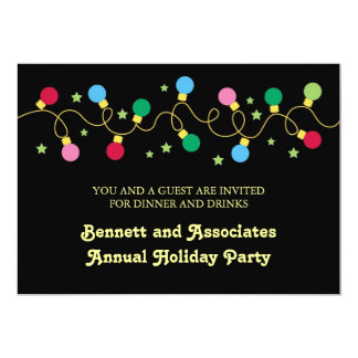 Christmas Lights Party Invitation